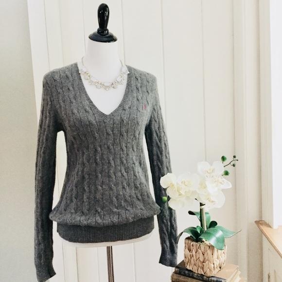 da51a081f POLO RALPH LAUREN Grey Wool   Cashmere Sweater. M 5bdb720dde6f62c9365074a6